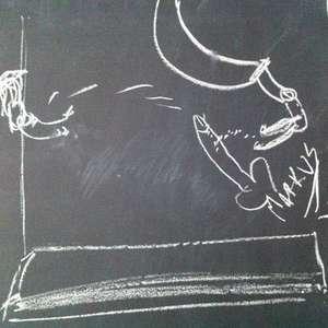 Dick on a Chalkboard