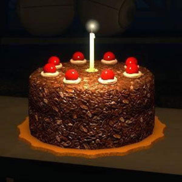 Portal 2 Cake Dessert Chocolate Torte Ercream Birthday Lighting
