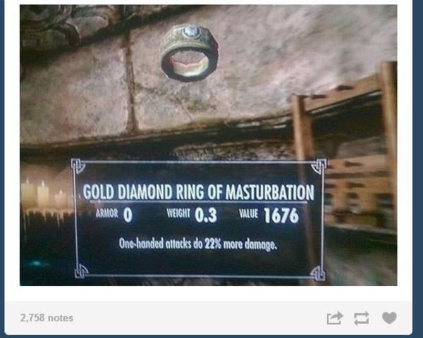 GOLD DIAMOND RING OF MASTURBATION The Elder Scrolls