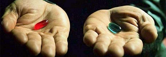 Image result for blue red pill